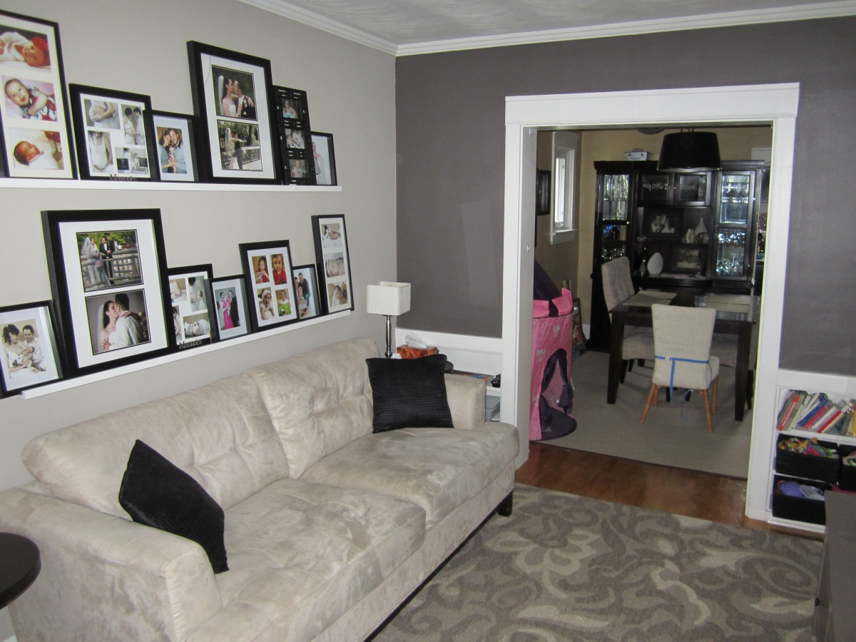 Living room feature wall the elm life - Feature wall living room ...