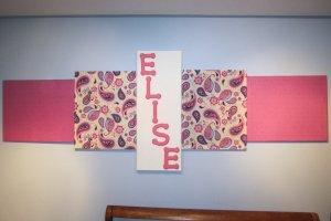 DIY Fabric Artwork After