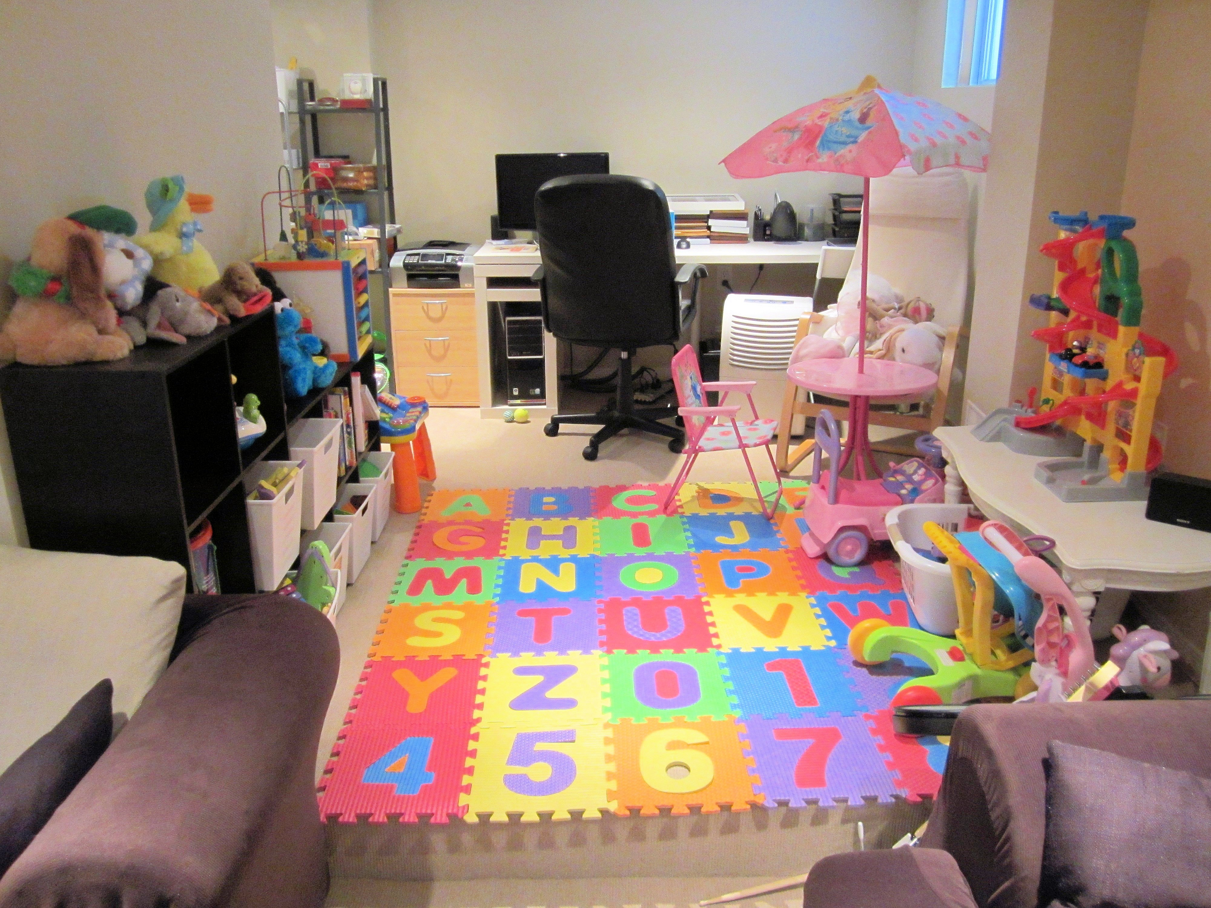 Reconfiguring the Basement: Playroom Update | The ELM Life