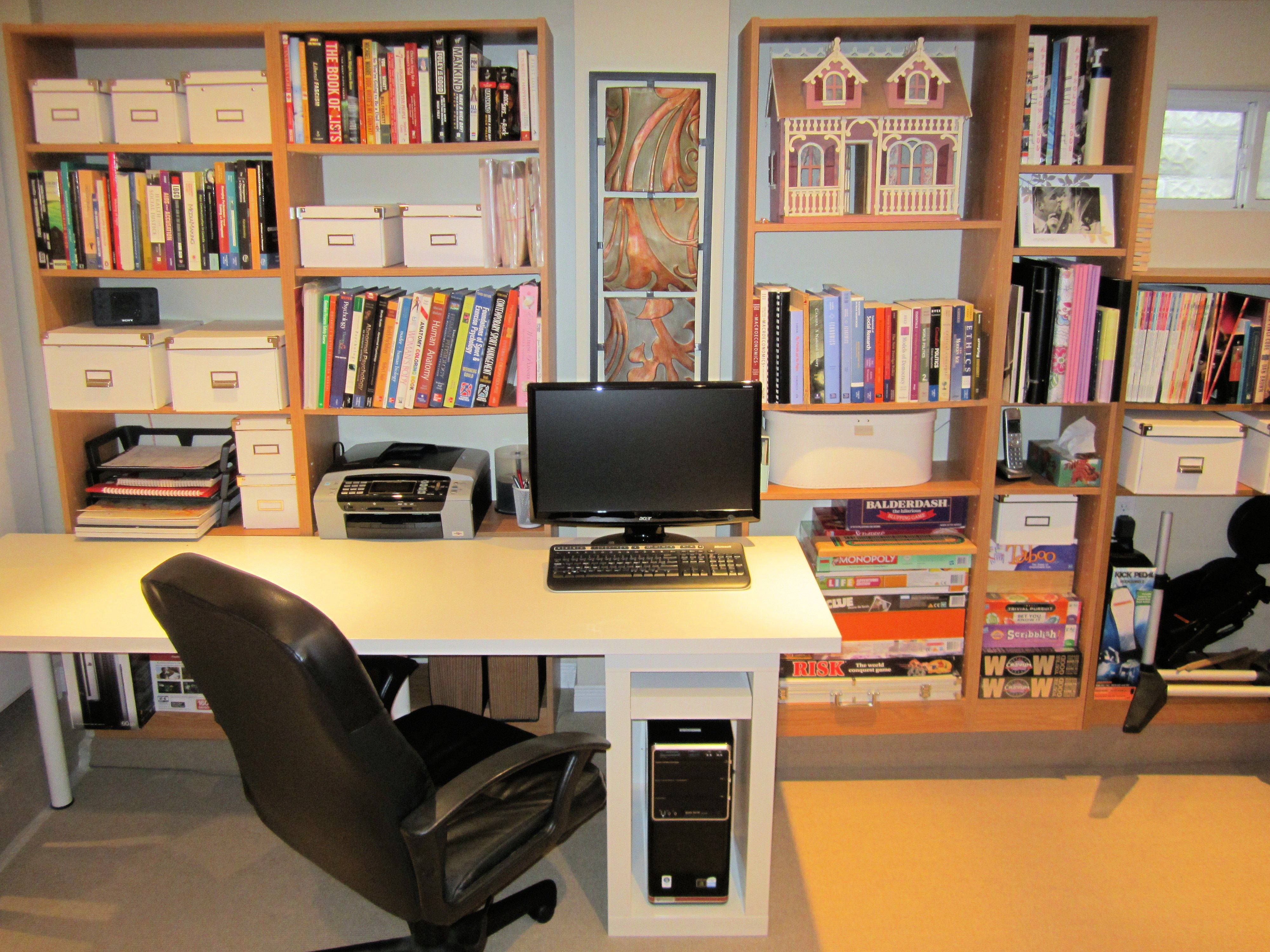 reconfiguring the basement moving the office area the