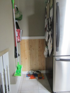 Pantry entryway after: neat and tidy