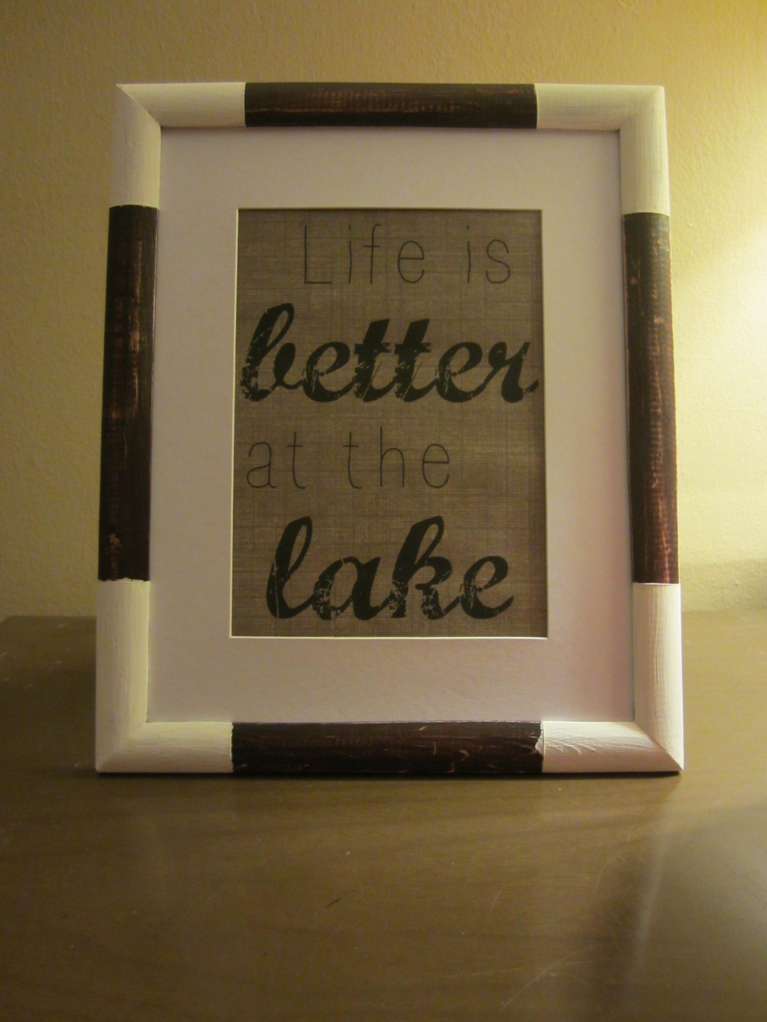 diy rustic frame cottage word art the elm life diy rustic fr