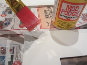 Step 4: Coat glitter in Mod Podge so the glitter doesn't come off