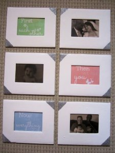 "DIY Nursery Artwork: ""First we had each other. Then we had you. Now we have everything"""