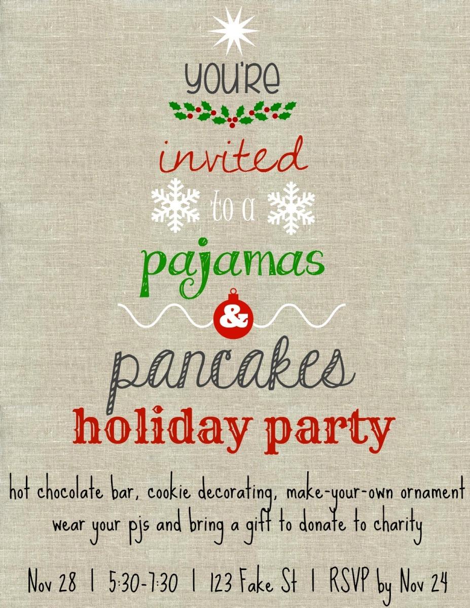 Christmas Pj Party Invitation as nice invitation template
