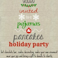 Holiday Pajamas & Pancakes Family Party