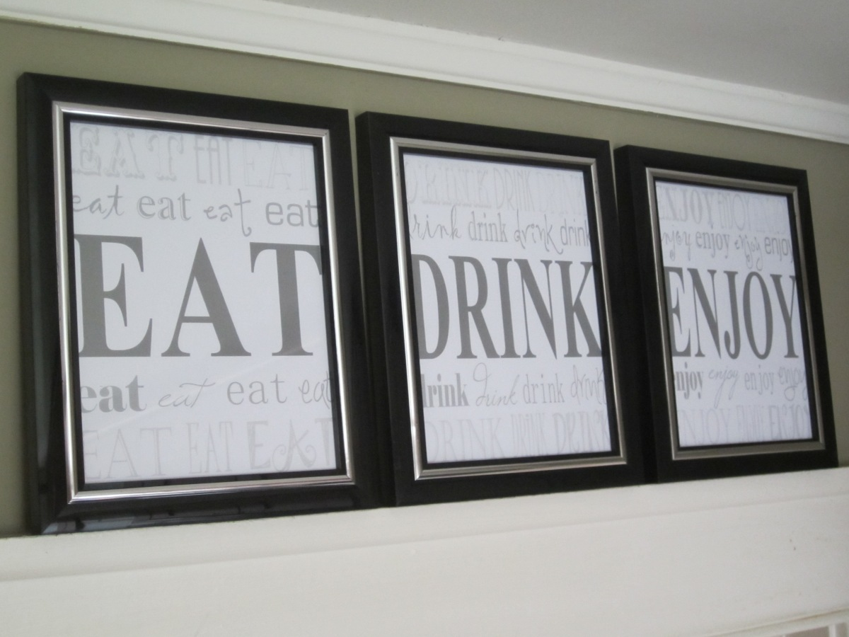 DIY Kitchen Word Art Artwork
