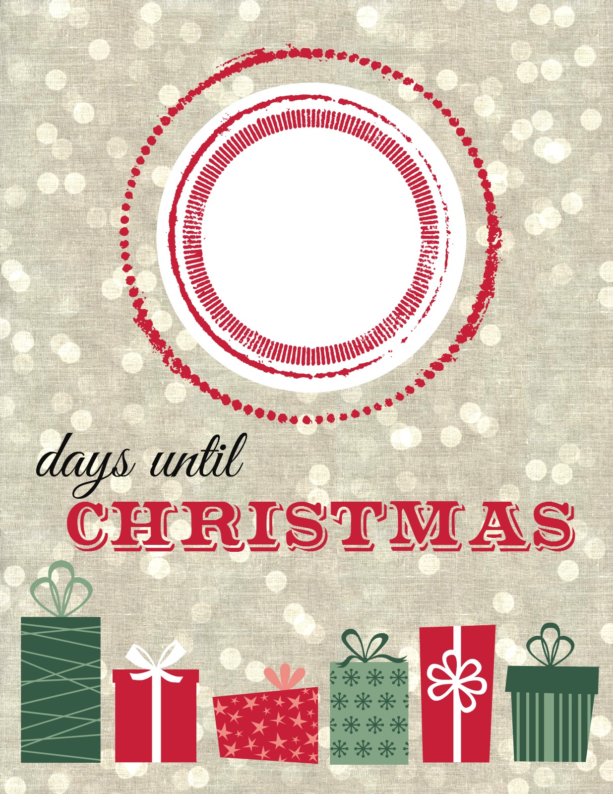 How Many Minutes Till Christmas.Christmas Countdown Printable The Elm Life