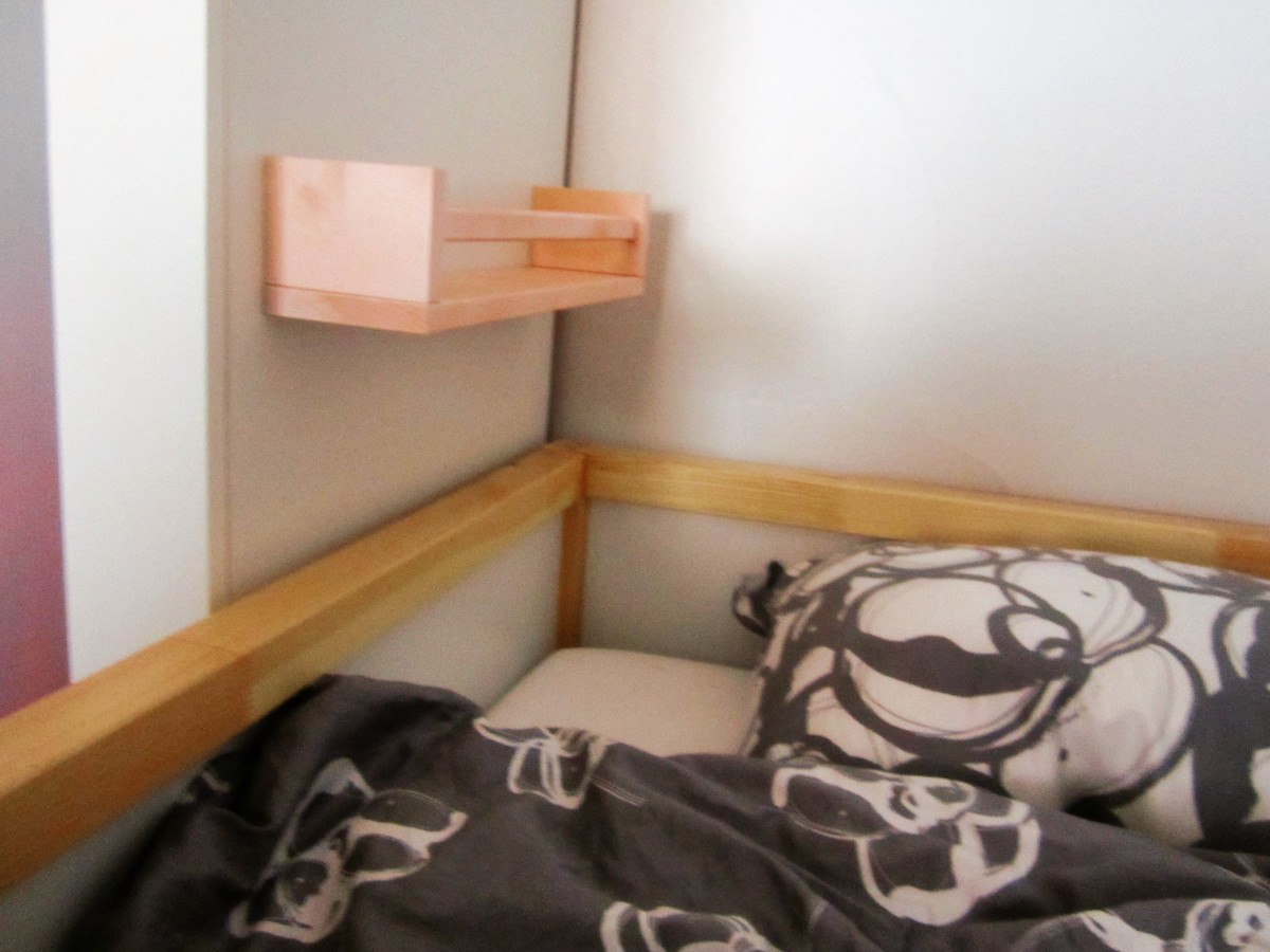 Ikea Hack: Bekvam Spice Rack as Bunk Bed Shelf