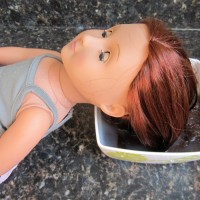 Pinterest FAIL: fixing a doll's hair with fabric softener