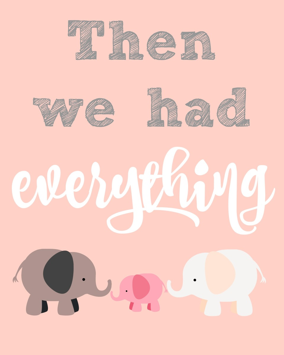 Printable Elephant-themed Nursery Artwork