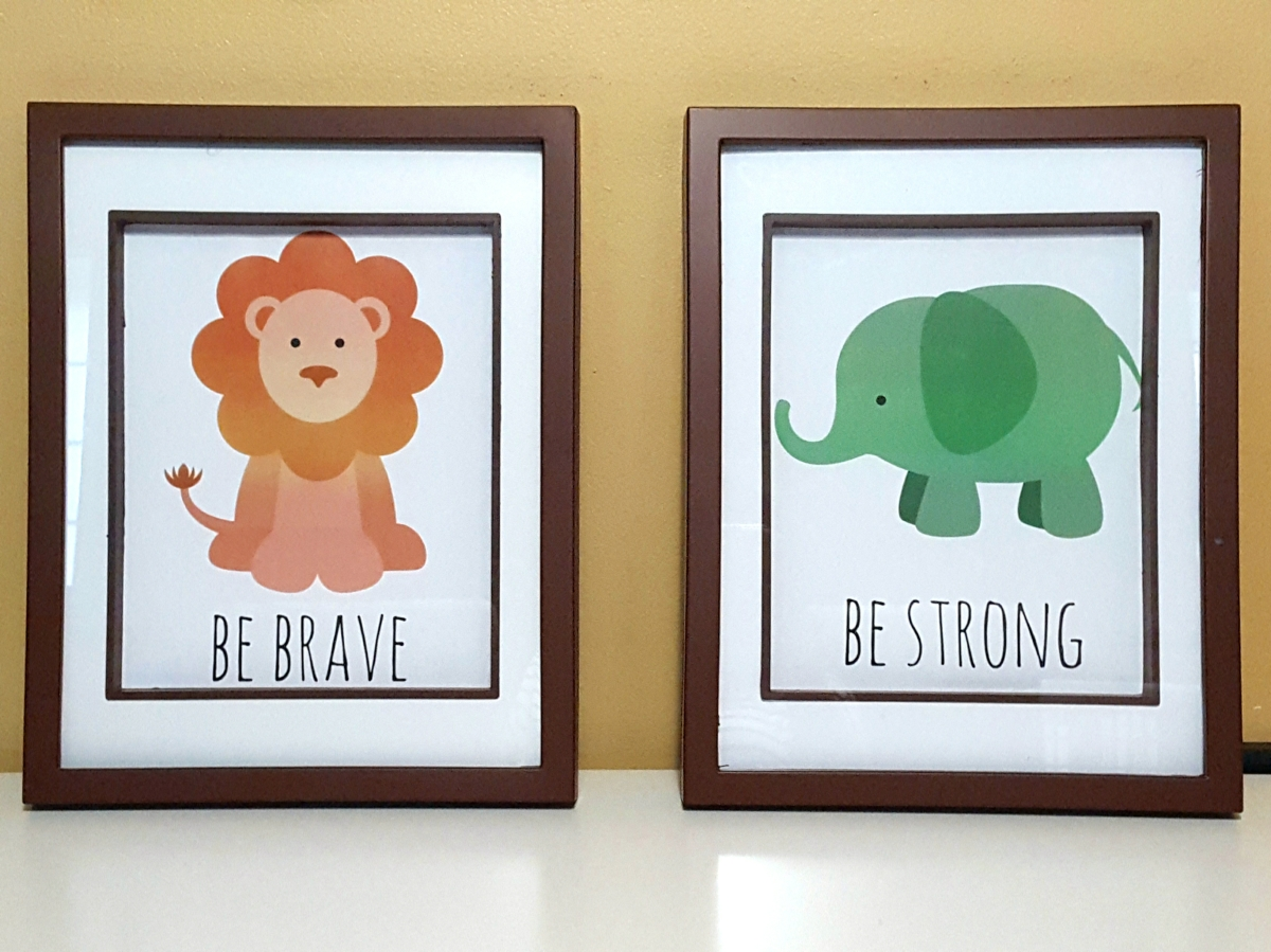 Printable Safari-themed Nursery Artwork