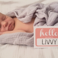 Welcome Livvy! + DIY Name Tag