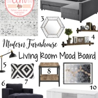 Modern Farmhouse Living Room Mood Board